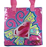 SuperGirl Tote Bag Handbag - 2.5x10x10 Tote Bag - Pink/Blue