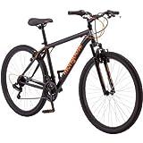 27.534; Mongoose Excursion Men39;s Mountain Bike, Black/Orange