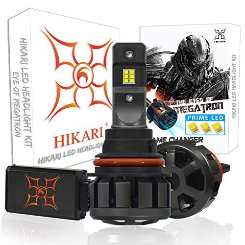 HIKARI Ultra LED Headlight Bulbs Conversion Kit -9004/HB1, Prime LED 12000lm 6K Cool White