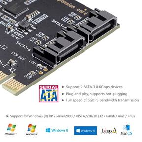 MHQJRH-PCI-Express-SATA-30-Controller-Card-2-Port-PCIe-to-SATA-III-6GB-s-Built-in-Adapter-Converter-PCI-E-to-SATA-30-Disk-Array-Cardwith-Small-Bracket-and-2-SATA-Cable-Support-SSD-and-HDD