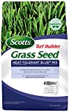Scotts Turf Builder Grass Seed Heat-Tolerant Blue Mix For Tall Fescue Lawns, 3 Lb. - Full Sun and Partial Shade -Superior Resistance to Heat, Drought and Disease - Seeds up to 750 sq. ft.