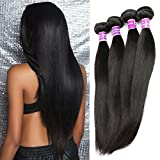 ZSF Hair 7A Grade Peruvian Virgin Hair Straight 3 Bundles 100% Human Hair Extension 14'16'18' Straight Hair Bundles
