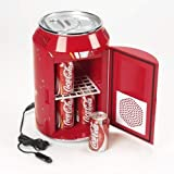 Generic Portable Mini Fridge/Refrigerator Can-Shaped Cooler Warmer Food Drink for Home (11L,Red)