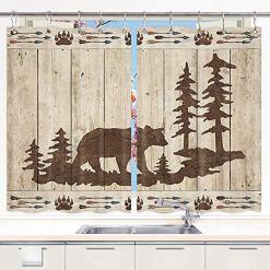 Bear Kitchen Curtains Set