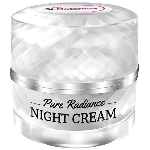51XVCRRWItL - StBotanica Pure Radiance Night Cream - Intensive Firming, Anti-Aging & Skin Brightening, 50gm (With Vitamin C, Retinol, Hyaluronic acid, Collagen)