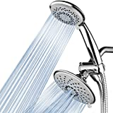 Hotel Spa 1831 30-Setting Ultra-Luxury 3 way Rainfall Shower-Head/Handheld Shower Combo by Top Brand Manufacturer. Choose from 30 full and combined water flow patterns! , 6 Inch , Chrome