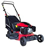 PowerSmart DB8621P 3-in-1 159cc Gas Push Mower, 21', Red, Black