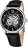 Stuhrling Original Mens'Specialty Atrium' Skeleton Automatic Self Winding Dress Watch with Premium Leather Band