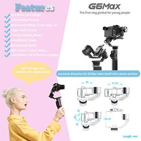 3-Axis-Gimbal-Stabilizer-for-Mirrorless-Camera-Sony-a6300a6500-7SII-RX100-Gopro-8765-Action-Camera-Smartphone-iPhone-11-Xs-Max-8plus-Samsung-S10-265lb-PayloadSplashproofFeiyuTech-G6-Max