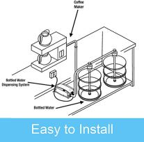 VEVOR-Water-Dispensing-System-20-ft-with-US-Plug-115V-AC-Perfect-for-5-Gallon-Bottle-Doubel-Inlet
