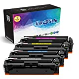 Ink E-Sale Compatible Toner Cartridge Replacement for HP 410A CF410A CF411A CF412A CF413A Black Cyan Magenta Yellow for HP Color LaserJet Pro MFP M477fdn M477fdw M477fnw M452dn M452nw M452dw Printer