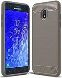 for Samsung Galaxy J7 2018 case, Galaxy J7 V 2nd Gen Case,Galaxy J7 Refine Case,Galaxy J7 Aero,J7 Star,J7 Top,J7 Crown,J7 Aura,J7 Eon,J737V,J737T Sucnakp TPU Protective Case Cover(TPU Gray)