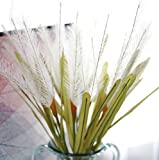 Skyseen 10PCS Artificial Feather Grass Simulation Leaves Wedding Party Home Decor