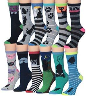 Tipi-Toe-Womens-Fashion-Novelty-Animal-Characters-Cartoon-Cat-Panda-Penguin-Crew-Socks