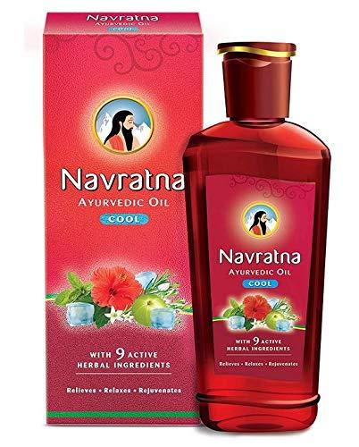 51XejgFkbuL - Navratna Ayurvedic cool hair oil with 9 herbal ingredients, 500ml