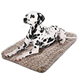 JOEJOY Dog Bed Ultra Soft Crate Pad Home Washable Mat for Medium Dogs and Cats Crate (30-inch, Mocha)