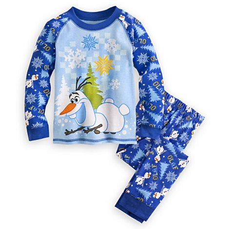 Disney Store Frozen Olaf Pajama Pants Set for Boys - Size 3-10