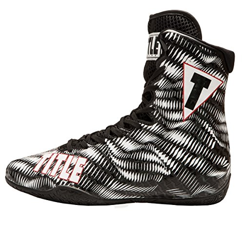 Title Predator Boxing Shoes, White/Black, 10