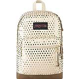 JanSport Right Pack Expressions - Lightweight 15' Laptop Backpack   Gold Polka Dot