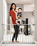 Regalo Easy Step 51-Inch Extra Wide Baby Gate, Includes 4-Inch and 12-Inch Extension Kit, 4 Pack of Pressure Mount Kit and 4 Pack of Wall Mount Kit, Platinum