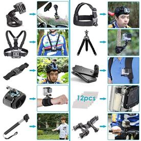 GoPro-Hero-7-Black-with-50-Piece-Action-Accessory-Kit-Straps-Harnesses-Mounts-Adapters-All-in-One-Bundle