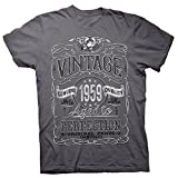 60th Birthday Gift Shirt - Vintage Aged to Perfection 1959 - Charcoal-002-Lg