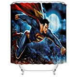 Superman team Waterproof Fabric Shower Curtain,72 x 72-Inch