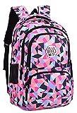 JiaYou Girl Flower Printed Primary Junior High University School Bag Bookbag Backpack(35 Liters, Style B Black)
