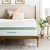 Linenspa 10 Inch Latex Hybrid Mattress - Supportive - Responsive Feel - Medium Firm - Temperature Neutral - California King