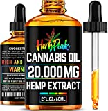 Hemp Oil for Stress & Anxiety Relief - 20000MG - Premium Hemp Complex - Made in USA - Anti Inflammatory & Immune Support - 100% Natural & Safe - Better Sleep & Mood - Ideal Omega 3, 6 & 9 Source