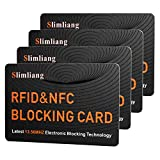 RFID Blocking Card, Fuss-Free Protection Entire Wallet & Purse Shield, Contactless NFC Bank Debit Credit Card Protector Blocker (Orange)