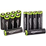 AmazonBasics AA & AAA Rechargeable Batteries (8-Pack) Pre-charged Bundle - Packaging May Vary