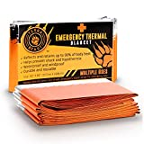 Emergency Blanket XL (6 Pack), 20% Larger Than Other Brands For Maximum Protection - Reusable, Multi-Functional Survival Gear For Camping, Hiking and Outdoor Enthusiasts-Compact and Ultra Light Design