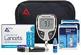 Contour Next Diabetes Testing Kit, 100 Count | Contour Next EZ Meter, 100 Contour Next Test Strips, 100 Lancets, Lancing Device, Control Solution, Manuals, Log Book & Carry Case