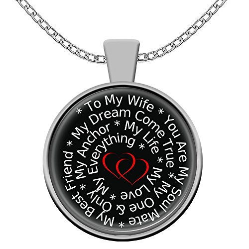 Love My Wife Necklace Pendant Gift Silver