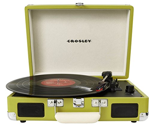 Crosley CR8005A-GR Cruiser Portable 3-Speed Turntable, Green