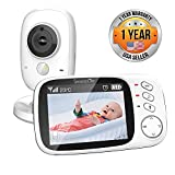"Video Baby Monitor Long Range - Upgraded 850' Wireless Range,  Night Vision, Temperature Monitoring and Portable 2"" Color Screen - Serenelife USA SLBCAM10"