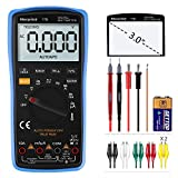 Digital Multimeter, Morpilot Auto-Ranging 6000 Counts DC/AC Voltage & Current, Resistance, Frequency, Continuity, Capacitance, Diode, Temperature, 3.0 Inch Backlight Large LCD Display & Test Leads