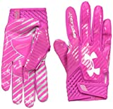Under Armour Men's Spotlight Football Gloves,Tropic Pink (654)/White, Medium