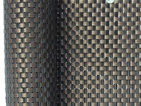 balkon sichtschutz rattan smart deko  kupfer x,m polyrattan sichtschutz