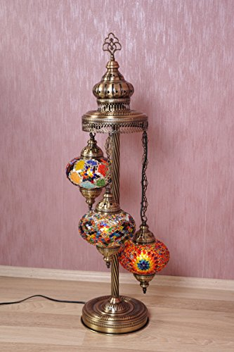 Turkish Moroccan Mosaic Glass Handmade Tiffany Floor Lamp Light ...