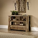 "Product review for Anywhere Console Table, End Table, Entryway, TV-Stand, Storage Shelving, 2 Drawers with Metal Runners and Safety Stops, Stores up to 47"" TV, Living Room Furniture, Oak Finish"