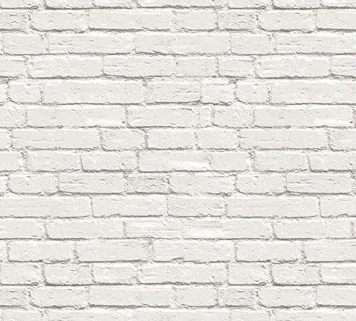 Buy Glowvia White Bricks Wallpaper For Wall Modern White Bricks Design Wallpaper For Home Office Living Room Hotel Cafe Size 57 Sqft Online At Low Prices In India Amazon In