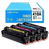 myCartridge Compatible Toner Cartridge Replacement for HP 410A CF410A CF411A CF412A CF413A(Black,Cyan,Yellow,Magenta,4-Pack)