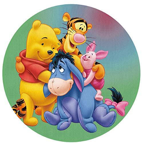 Round Area Rug Winnie The Pooh and Friends Indoor/Outdoor Floor Mat 23.6 Inch Diameter Home Decor
