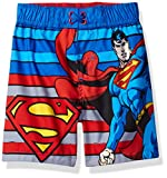 Warner Bros. Boys' Superman Toddler Swim Trunk, Blue, 2T