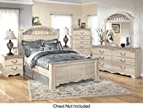 Product review for Ashley Catalina Queen Bedroom Set with Panel Bed Dresser Mirror and Nigthstand in Antique