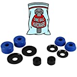 Dime Bag Hardware Skateboard Truck Rebuild Kit Bushings Washers Pivot Cups for 2 Trucks (88A Blue)