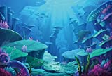 LFEEY 10x8ft Underwater World Photo Backdrop Kids Girl Boy Birthday Party Fairyland Background for Photography Under The Sea Marine Life Coral Reef Photo Studio Props