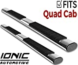 Ionic Voyager Plus Stainless Running Boards 2015-2018 Dodge Ram Quad Cab